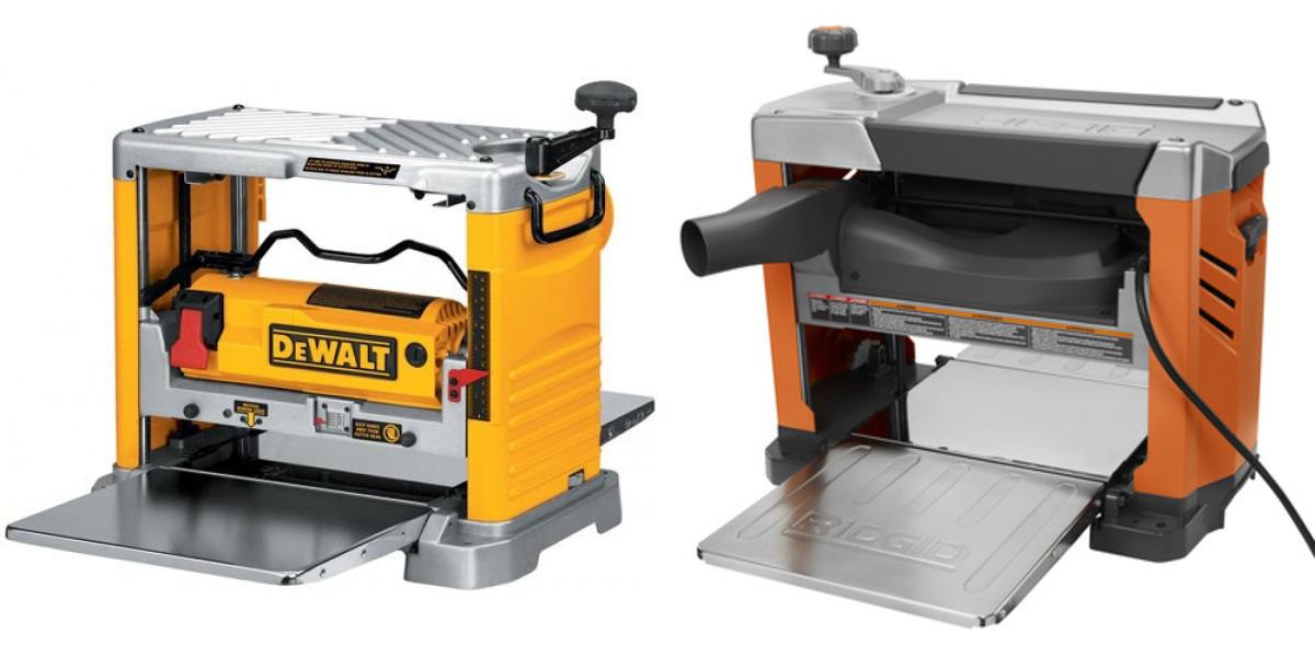Dewalt Dw734 Vs Ridgid R4331 Planer Comparison Woodworking Tool
