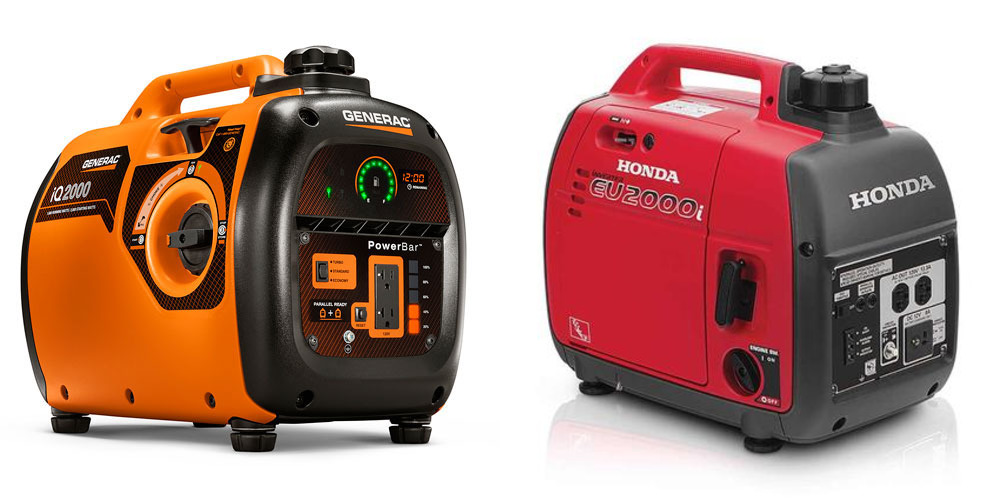 Generac Iq2000 Vs Honda Eu2000i Generator Comparison Woodworking Tool Guide
