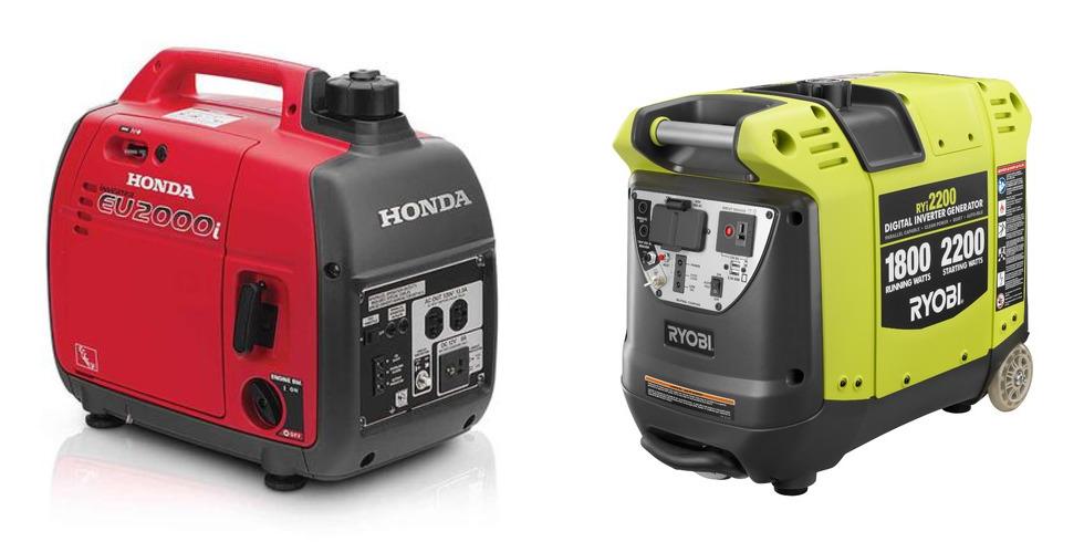 Honda vs Ryobi Generator